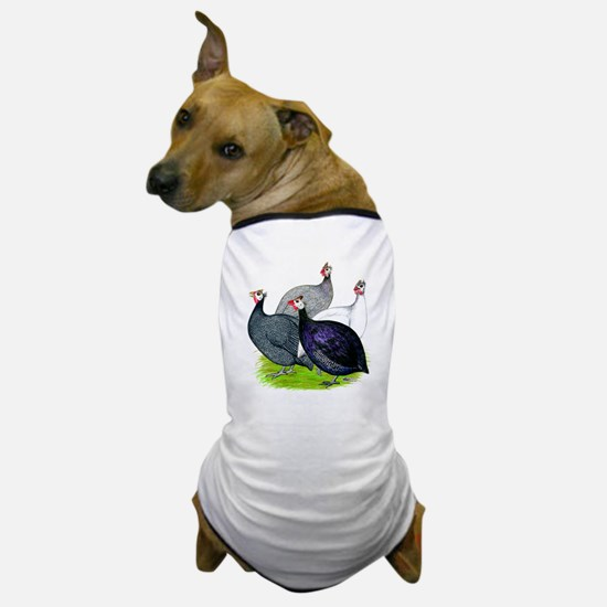Four Guineafowl Dog T-Shirt