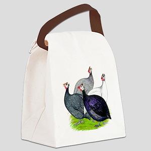 Four Guineafowl Canvas Lunch Bag
