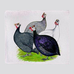 Four Guineafowl Throw Blanket