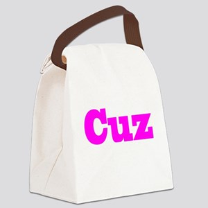 Cuz Pink Canvas Lunch Bag