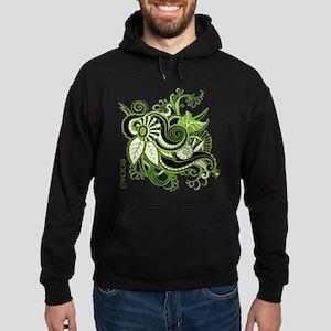 OYOOS Green Flower design Hoodie (dark)