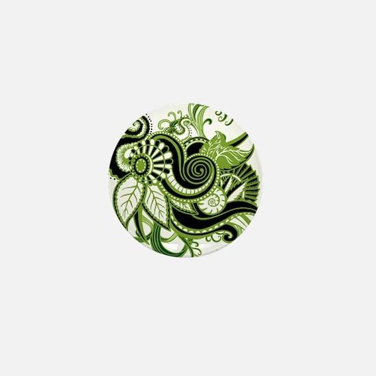 OYOOS Green Flower design Mini Button