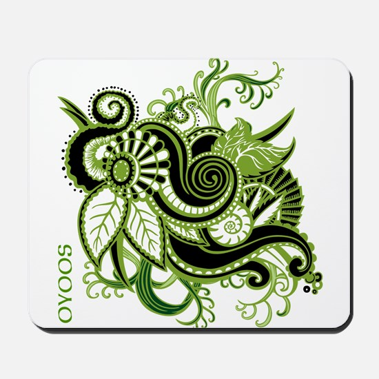 OYOOS Green Flower design Mousepad
