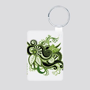 OYOOS Green Flower design Aluminum Photo Keychain
