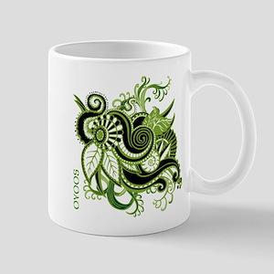 OYOOS Green Flower design Mug
