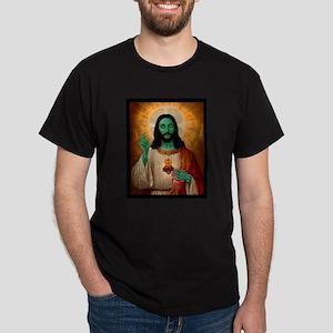 Zombie Jesus Loves Brains Dark T-Shirt