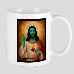 Zombie Jesus Loves Brains Mug