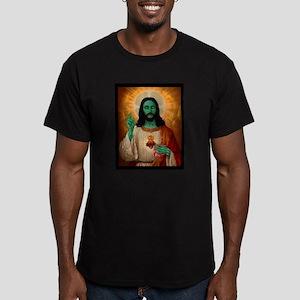 Zombie Jesus Loves Brains Men's Fitted T-Shirt (da