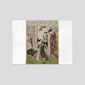 November - Harunobu Suzuki - 1770 5'x7'Area Rug