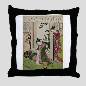 November - Harunobu Suzuki - 1770 Throw Pillow