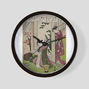 November - Harunobu Suzuki - 1770 Wall Clock
