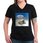 Weather Prep Women's V-Neck Dark T-Shirt