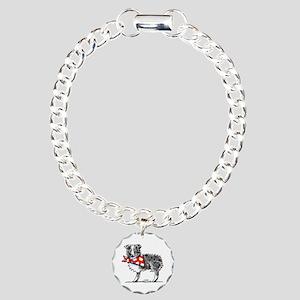 Blue Merle Aussie Charm Bracelet, One Charm