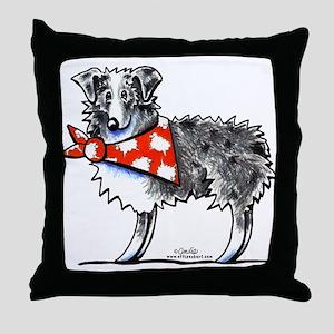Blue Merle Aussie Throw Pillow