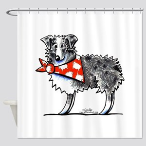Blue Merle Aussie Shower Curtain