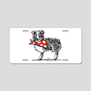 Blue Merle Aussie Aluminum License Plate