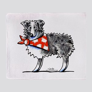 Blue Merle Aussie Throw Blanket