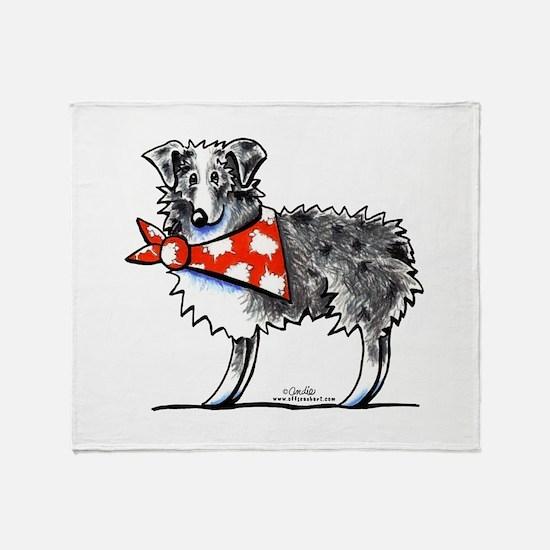 Blue Merle Aussie Throw Blanket