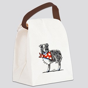 Blue Merle Aussie Canvas Lunch Bag