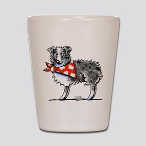 Blue Merle Aussie Shot Glass