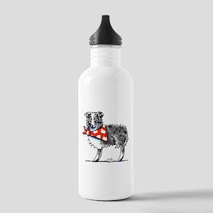 Blue Merle Aussie Stainless Water Bottle 1.0L