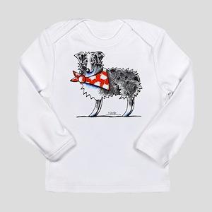 Blue Merle Aussie Long Sleeve Infant T-Shirt