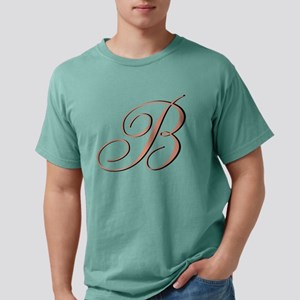 Elegant Initial Mens Comfort Colors Shirt