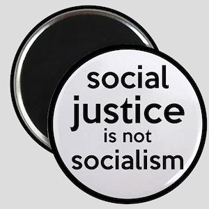 Social Justice Not Socialism Magnet
