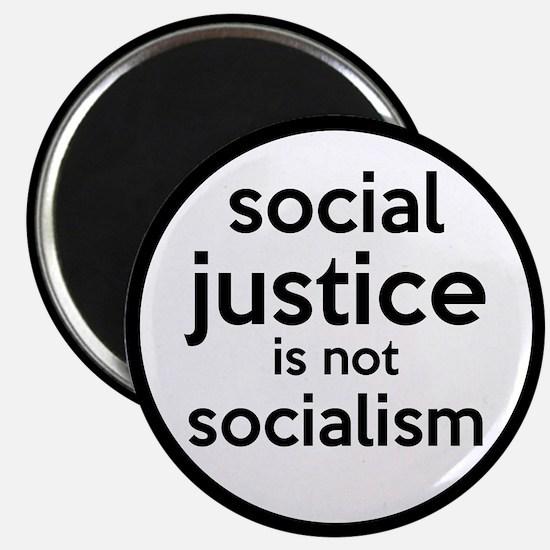 "Social Justice Not Socialism 2.25"" Magnet (10 pack"