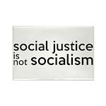 Social Justice Not Socialism Rectangle Magnet (10