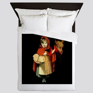 Little Red Riding Hood Gets Revenge Queen Duvet