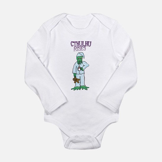 Cthulhu Rises Long Sleeve Infant Bodysuit