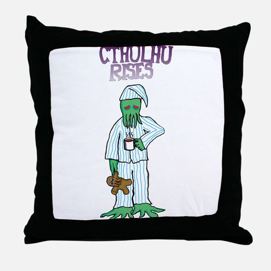 Cthulhu Rises Throw Pillow