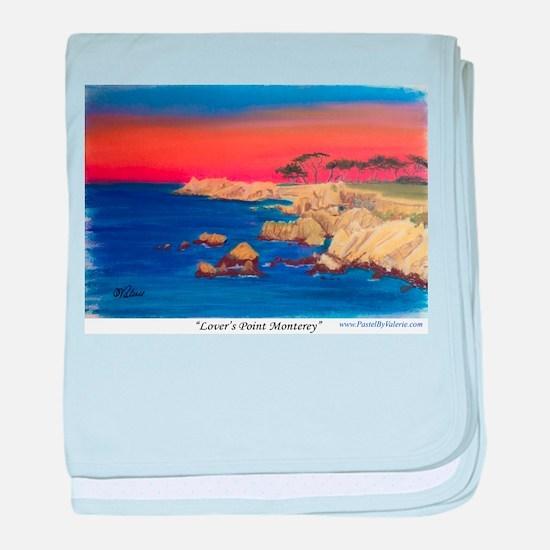 Lovers Point Monterey baby blanket