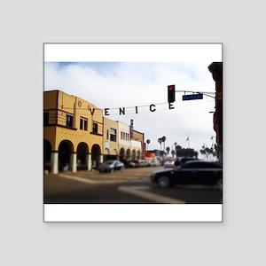 """Venice Crossing Square Sticker 3"""" x 3"""""""