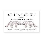 Civet Brand Luwak Coffee Rectangle Car Magnet