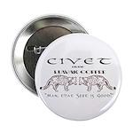 """Civet Brand Luwak Coffee 2.25"""" Button"""