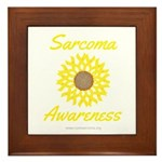 Sarcoma Awareness Ribbon Sunflower Framed Tile