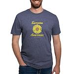 Sarcoma Awareness Ribbon Sunflower Mens Tri-blend