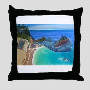 McWay Falls Big Sur Throw Pillow