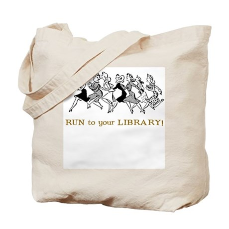 Run to your library Tote Bag