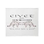 Civet Brand Luwak Coffee Throw Blanket