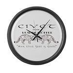 Civet Brand Luwak Coffee Large Wall Clock