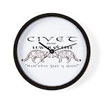 Civet Brand Luwak Coffee Wall Clock