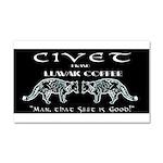 Civet Brand Luwak Coffee Car Magnet 20 x 12