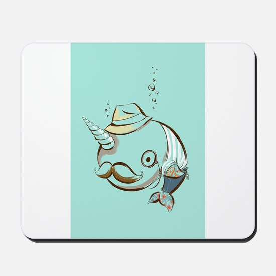 hipster narwhal Mousepad