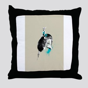narwhal rodeo Throw Pillow
