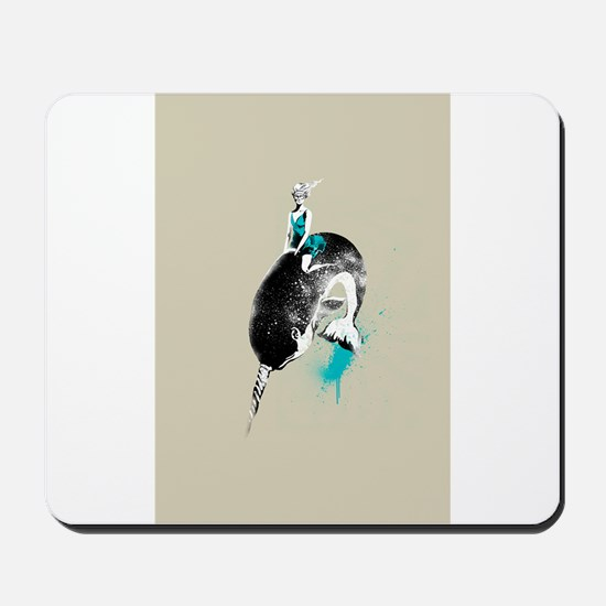 narwhal rodeo Mousepad
