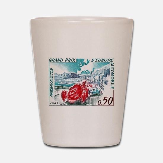 1963 Monaco Grand Prix Postage Stamp Shot Glass