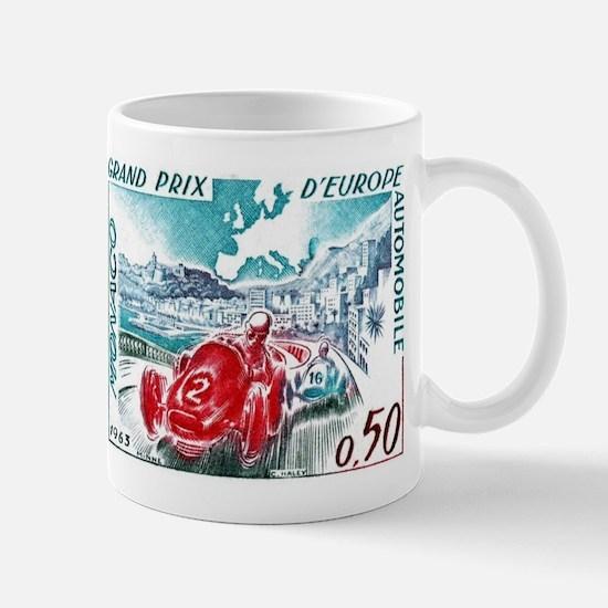 1963 Monaco Grand Prix Postage Stamp Mug